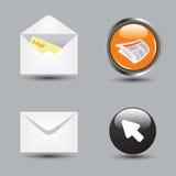 вектор интернета иконы eps применений установленный Стоковая Фотография RF