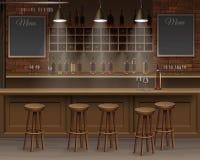 Вектор интерьера стола счетчика столовой пива кафа бара Стоковые Фотографии RF