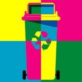 Вектор искусства цвета мусорной корзины бесплатная иллюстрация