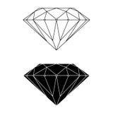 Вектор и силуэт диаманта Стоковая Фотография