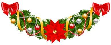 вектор иллюстрации гирлянды рождества карточки предпосылки Стоковое фото RF