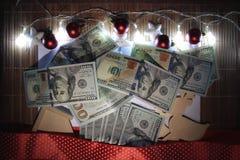 вектор иллюстрации гирлянды рождества карточки предпосылки Стоковые Изображения