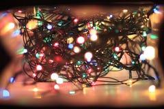 вектор иллюстрации гирлянды рождества карточки предпосылки Стоковая Фотография RF