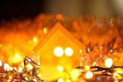 вектор иллюстрации гирлянды рождества карточки предпосылки Стоковые Изображения RF