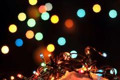 вектор иллюстрации гирлянды рождества карточки предпосылки Стоковые Фотографии RF