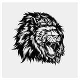 Вектор иллюстрации головного льва Стоковая Фотография