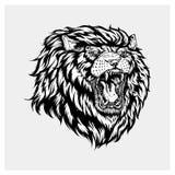 Вектор иллюстрации головного льва Стоковая Фотография RF