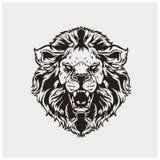 Вектор иллюстрации головного льва Стоковые Изображения RF