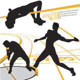 Вектор иллюстрации действия спорт спортсменов Стоковые Изображения RF
