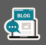 вектор иллюстрации иконы блога 3d Стоковые Фотографии RF