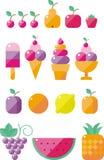вектор иллюстрации икон еды конструкции вы иллюстрация штока