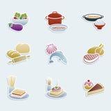 вектор иллюстрации икон еды конструкции вы Стоковое Изображение