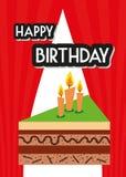 Вектор иллюстрации карточки плаката графический c днем рожденья Стоковое Изображение RF