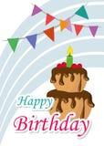 Вектор иллюстрации карточки плаката графический c днем рожденья бесплатная иллюстрация