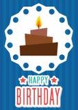Вектор иллюстрации карточки плаката графический c днем рожденья иллюстрация штока