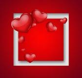 вектор иллюстрации карточки романтичный Стоковое Изображение RF