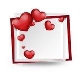 вектор иллюстрации карточки романтичный Стоковые Изображения RF