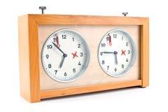 вектор иллюстрации контура часов шахмат Стоковое Изображение