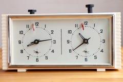 вектор иллюстрации контура часов шахмат Стоковая Фотография RF