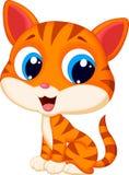 вектор иллюстрации кота шаржа милый Стоковое Изображение