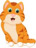 вектор иллюстрации кота шаржа милый Стоковое Изображение RF