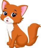 вектор иллюстрации кота шаржа милый Стоковые Изображения