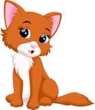 вектор иллюстрации кота шаржа милый Стоковая Фотография RF