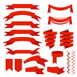 вектор иллюстрации красными установленный тесемками Стоковые Фото