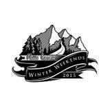 Вектор иллюстрации логотипа горы Стоковые Изображения