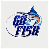 Вектор иллюстрации логотипа рыбной ловли Стоковое Изображение