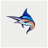 Вектор иллюстрации логотипа рыбной ловли Стоковая Фотография RF