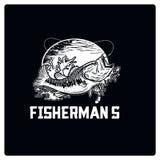 Вектор иллюстрации логотипа рыбной ловли Стоковые Фото