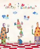 вектор иллюстрации приветствию поздравительой открытки ко дню рождения eps10 Стоковое фото RF