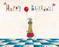 вектор иллюстрации приветствию поздравительой открытки ко дню рождения eps10 Стоковая Фотография RF