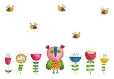 вектор иллюстрации приветствию поздравительой открытки ко дню рождения eps10 Стоковые Фотографии RF