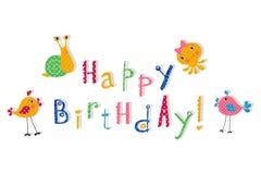 вектор иллюстрации приветствию поздравительой открытки ко дню рождения eps10 Стоковое Изображение