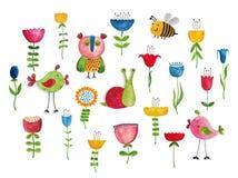 вектор иллюстрации приветствию поздравительой открытки ко дню рождения eps10 Стоковые Фото