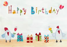 вектор иллюстрации приветствию поздравительой открытки ко дню рождения eps10 Стоковые Изображения