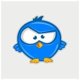 Вектор иллюстрации птицы twitter значка Стоковые Изображения