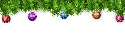 вектор иллюстрации рождества eps10 знамени Стоковые Изображения