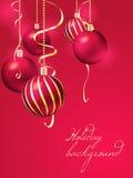 вектор иллюстрации рождества eps10 шариков предпосылки Стоковое фото RF