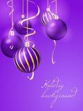 вектор иллюстрации рождества eps10 шариков предпосылки Стоковые Фото