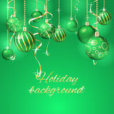 вектор иллюстрации рождества eps10 шариков предпосылки Стоковые Фотографии RF