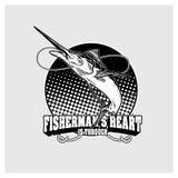 Вектор иллюстрации рыбной ловли Стоковая Фотография