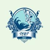 Вектор иллюстрации серфинга логотипа Стоковое фото RF