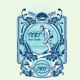 Вектор иллюстрации серфинга плаката Стоковое Фото