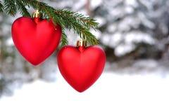 вектор иллюстрации сердца формы рождества eps8 ai Стоковое Изображение