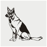 Вектор иллюстрации собаки Стоковые Изображения RF