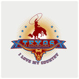 Вектор иллюстрации страны Техаса логотипа Стоковые Изображения RF