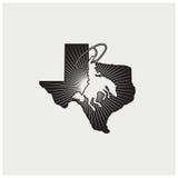 Вектор иллюстрации страны Техаса логотипа Стоковое фото RF